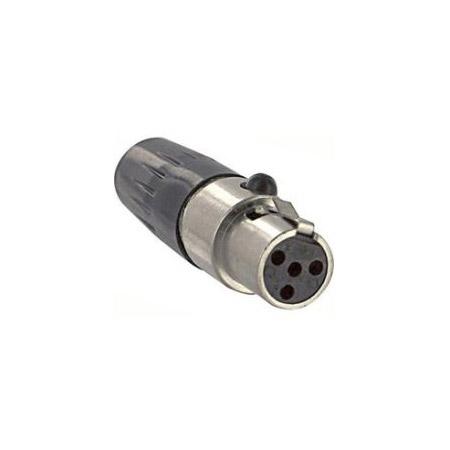 Switchcraft TA4FLX Large Flex Tini-QG Mini 4-Pin XLR-F Cable Mount