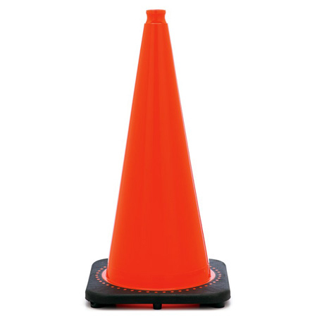 28 Inch Wide Body Traffic Safety Cone with EZ Grip Top - 6 Pack