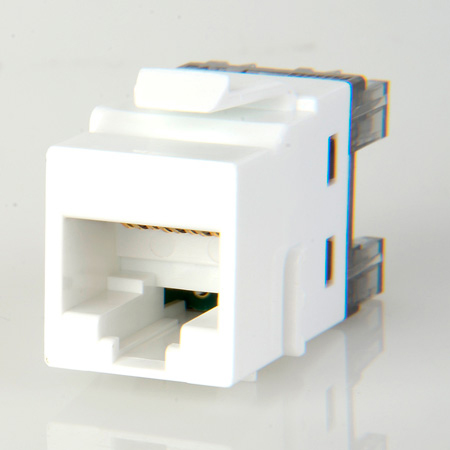 ADC-Commscope 1-2111475-3 T568A/T568B Category 6 RJ45 Jack Alpine White