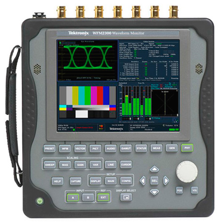 Tektronix WFM2300 3G / DL / HD / SD-SDI Multistandard Portable Waveform Monitor