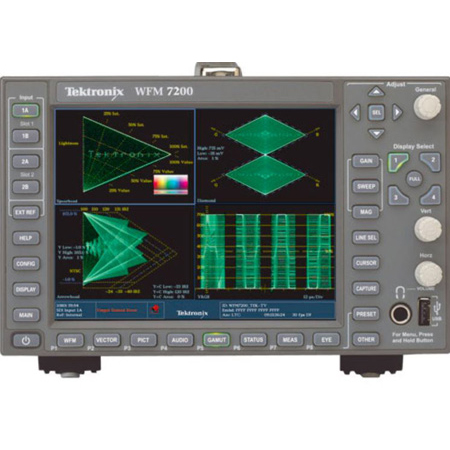 Tektronix WFM7200-3G Simultaneous Monitoring of HD/SD-SDI Inputs and CPS Inputs - Option SIM - for TEK-WFM7200