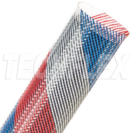 Techflex PTN-2.50PT Flexopet 2.5 Inch Expandable Tubing - 200 Foot Spool - Patriot