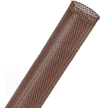 Techflex PTN1.00 Flexo PET 5/8 to 1 5/8 Inch Expandable Tubing - 250 Foot - Brown