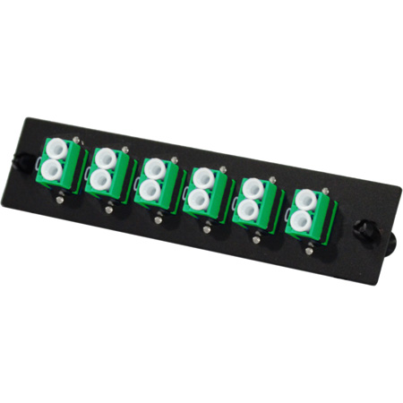 TechLogix ECO-P-S2-LCA6D ECO Mounting Panel - 1 Slot - Single Mode OS2 - 6 Duplex LC/APC (Angled)