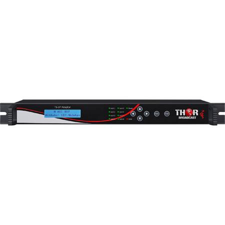Thor H-8ASI-IP 8 Channel DVB-ASI Network Gateway - Gigabit Ethernet 800 Mbps