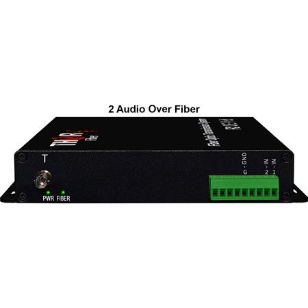 Thor Fiber F-2A-TXRX 2 Unbalanced Uni-Directional Audio over 1 Fiber Transmitter and Receiver Kit - 20hz-20Khz
