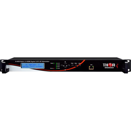 Thor H-HDCOAX-8 8 Channel HDMI to QAM Modulator with 8CVBS for CC and Ultra Low Latency