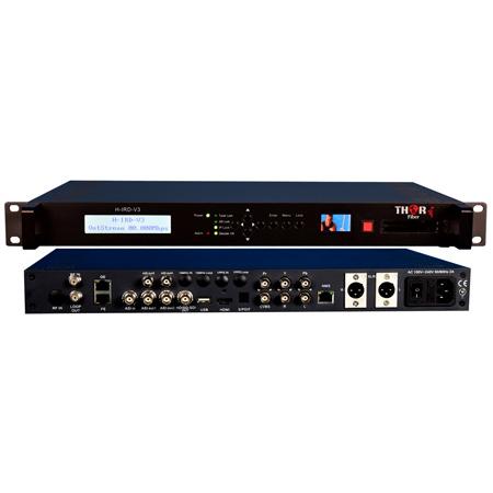 Thor Fiber H-IRD-V3s Integrated Receiver Decoder for DVB-S2/ ASI/ or IP