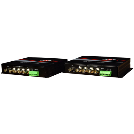 Thor Fiber F-M4SDI-Tx-Rx 4Ch HD-SDI Transmitter & Receiver Kit over ST Singlemode Fiber 20km