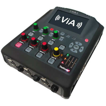 Tieline TLF5300 ViA Point-to-point Audio Codec Mixer with 3 XLR inputs and Stereo Aux Input - Li-Ion