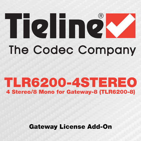 Tieline TLR6200-4STEREO Gateway License Add-On - 4 Stereo/8 Mono for Gateway-8 (TLR6200-8)