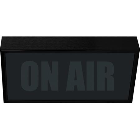 Titus LPL-HB Low Profile Horizontal Studio Warning Light - ON AIR in Black Matte