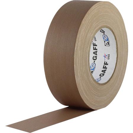Pro Tapes 001UPCG255MTAN Pro Gaff Gaffers Tape TNGT-60 2 Inch x 55 Yards - Tan