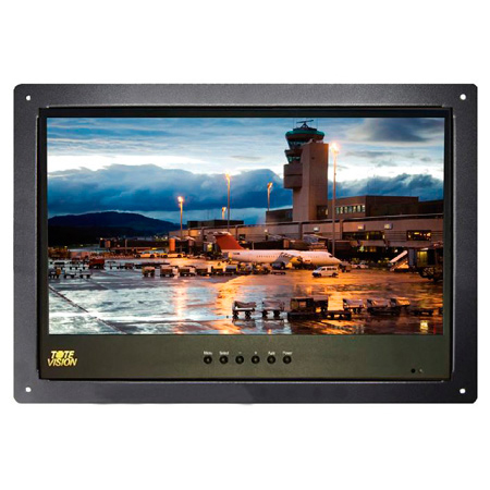 ToteVision LED-1562HDR LED Backlit LCD Monitor 15.6 Inch Rack Mount with HDMI/RS-232/USB/VGA