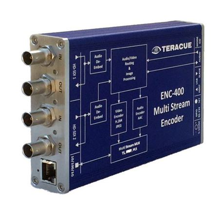 Teracue ENC-400-HDSDI-PORTABLE HDSDI to H.264 and MJPEG Encoder with Logo Inserter