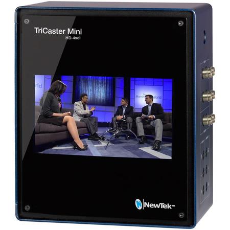 NewTek TCMASDI-BR2 TriCaster Mini Advanced HD-4 SDI Bundle Production Switcher with Mini HD-4 SDI/Mini CS/Travel Case