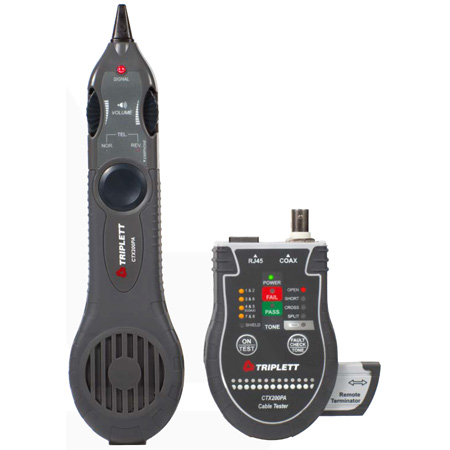 Triplett CTX200PA Network Cable Tester with Inductive Probe