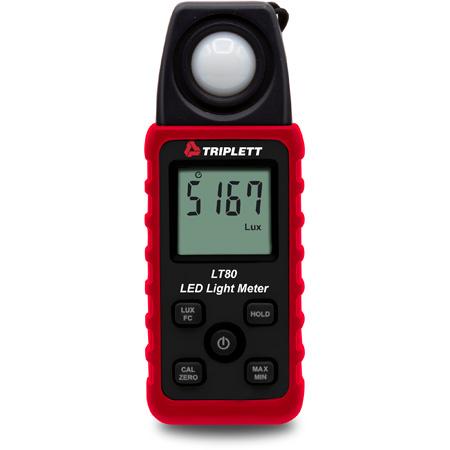Triplett LT80 LED Light Meter - White LED Light Sources up to 40000 Fc