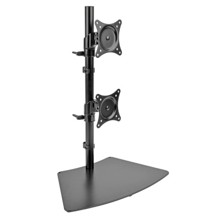 Tripp Lite DDR1527SDC Dual Vertical Flat-Screen Desk Stand/Clamp Mount 15 in. to 27 in. Flat-Screen Displays