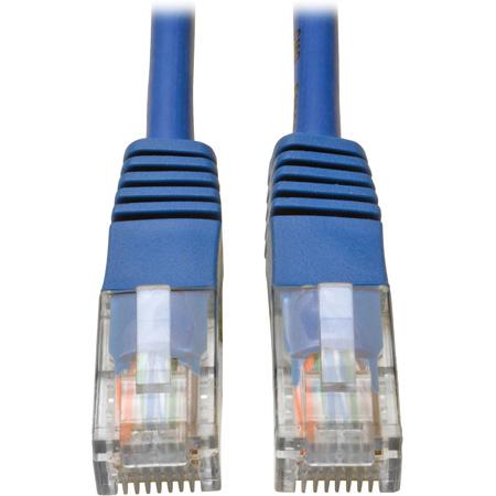 Tripp Lite N002-002-BL Cat5e 350MHz RJ45 M/M Blue Molded Patch Cable - 2 Foot
