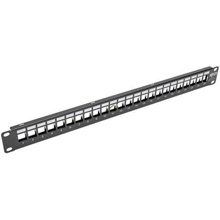 Tripp Lite N062-024-KJ-SH 24-Port 1U Rack-Mount Shielded Blank Keystone/Multimedia Patch Panel -RJ45 Ethernet/USB/HDMI