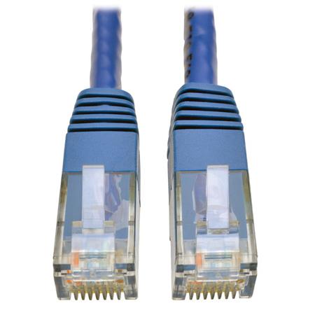 Tripp Lite N200-005-BL Cat6 Gigabit Molded Patch Cable (RJ45 M/M) Blue 5 foot