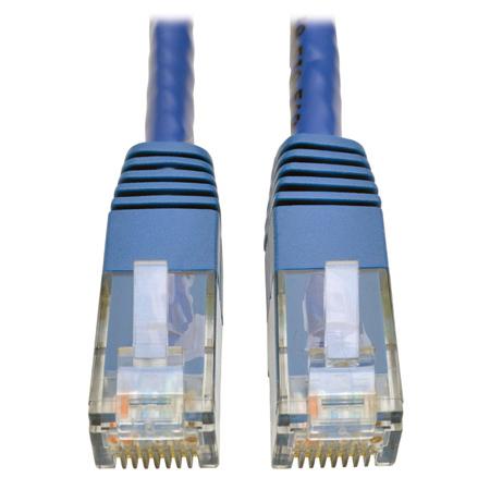 Tripp Lite N200-007-BL Cat6 Gigabit Molded Patch Cable (RJ45 M/M) Blue 7 foot