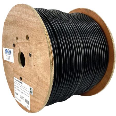 Tripp Lite N228-01K-BK Cat6/Cat6e Bulk Ethernet Cable 600MHz Outdoor-Rated - Black - 1000 Foot