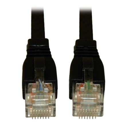 Tripp Lite N261-010-BK Augmented Cat6 (Cat6a) Snagless 10G Certified Patch Cable (RJ45 M/M) - Black 10 Feet