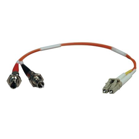 Tripp Lite N457-001-62 Duplex Multimode 62.5/125 Fiber Adapter (LC-ST M/F) 1 Foot