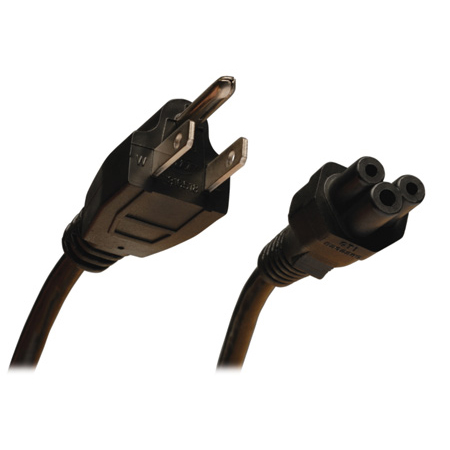 Tripp Lite P013-003 Standard Laptop/Notebook Power Cord 10A (NEMA 5-15P to IEC-320-C5) 3 Feet