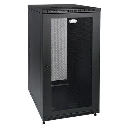 Tripp Lite SR24UB 24U Industrial Rack Floor Enclosure Server Cabinet - Doors & Sides