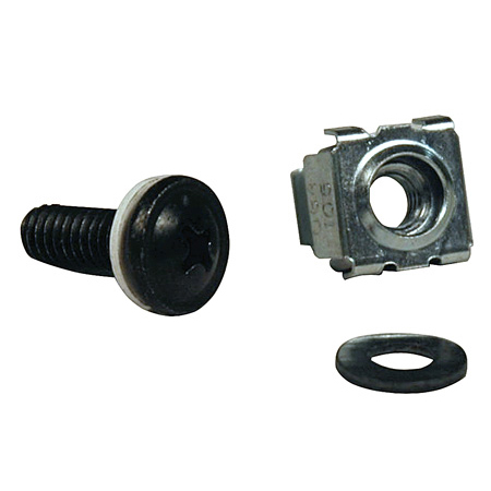 Tripp Lite SRCAGENUTS1224 50PC Rack Enclosure Square Hole Hardware 12-24 Screws & Washers