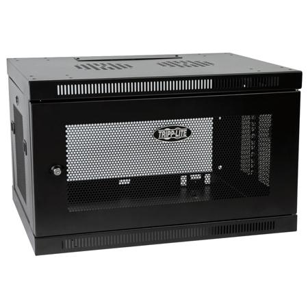 Tripp Lite 6U Low-Profile Wall-Mount Rack Enclosure Cabinet Removable Side Panels 15H x 24W x 18D
