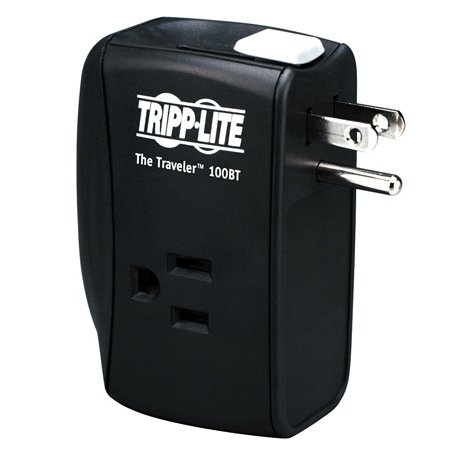 Tripp Lite TRAVELER100BT Notebook Surge Protector Wallmount Direct Plug In 2 Outlet RJ45