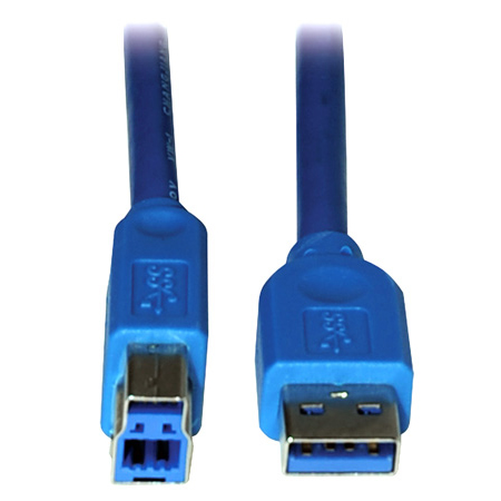 Tripp Lite U322-006 6ft USB 3.0 SuperSpeed Device Cable 5 Gbps A Male to B Male 6 Foot - Blue
