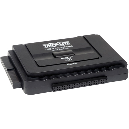 Tripp Lite U338-000 USB 3.0 SuperSpeed to Serial ATA (SATA) and IDE Adapter for 2.5 Inch or 3.5 Inch Hard Drives