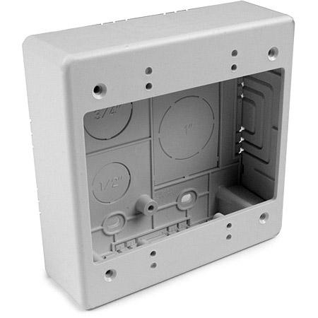 HellermannTyton TSRW-JBD Dual Gang Junction Box 1.5 Inch Deep for Surface Raceway White