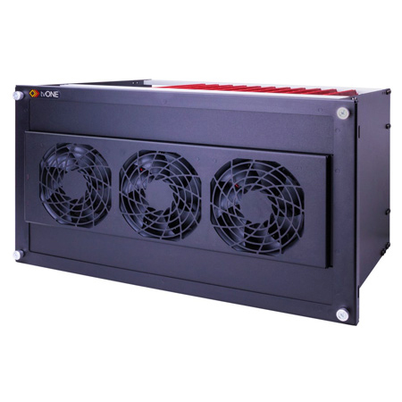 tvONE ONErack 1RK-6RU-FAN 6RU Fan Cover and PSU Connector Cable to be Powered By 1RK-6RU-PSU