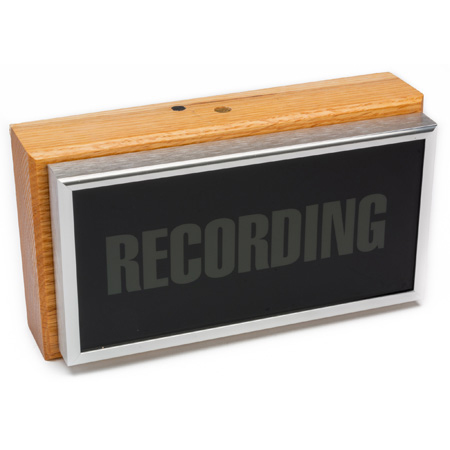 Horizontal Studio Warning Light - Recording in Silver Lettering - Bstock (Used Display)