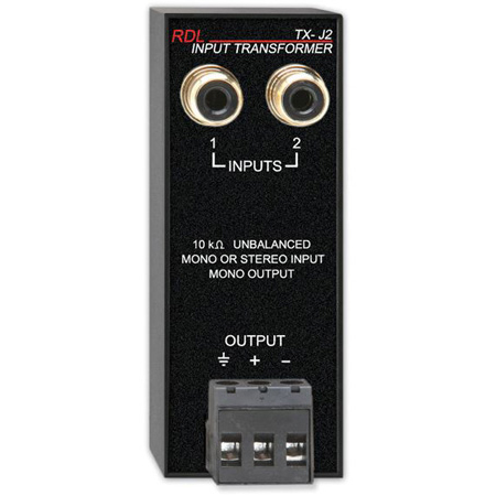 RDL TX-J2 Unbalanced Input Transformer Zoom Rooms compatible
