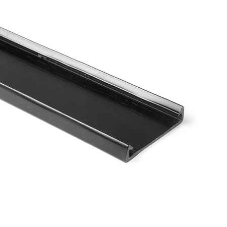 HellermannTyton TC1BK4 1-Inch Wide 6 Foot Length PVC Wiring Duct Cover for TYT-1X1-BK - Black