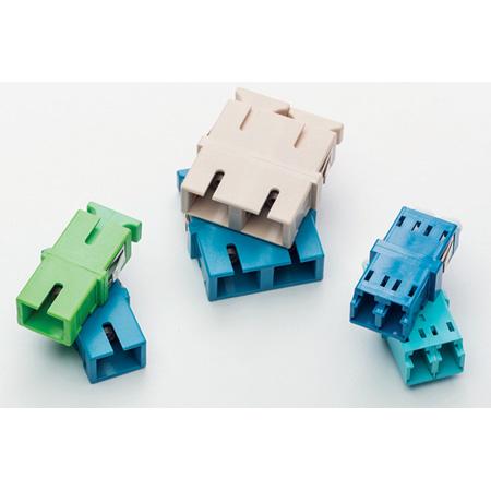 HellermannTyton FALCADSM Adapter - LC Duplex Singlemode APC - No Flange - Green