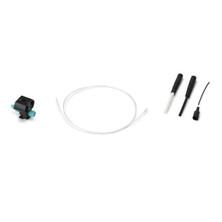 HellermannTyton PFCLC10G Pre-Polished LC 10G 50/125 Multimode Fiber Connector - Aqua - 1/pkg