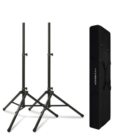 Ultimate Support TS-80BT Speaker Stands Kit - Two TS-80B Black Stands with BAG90D Tote Bag