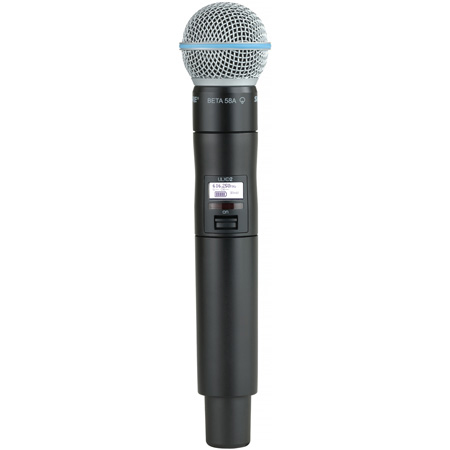 Shure ULXD2-BETA58 Handheld Wireless Transmitter with Beta 58A Microphone Capsule - J50A Band - 572.125 - 615.850MHz