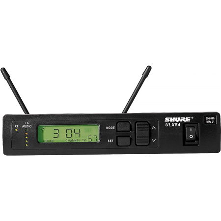 Shure ULX Receiver with PS and 1/4 Wave Antennas - Frequency G3 - 470 - 505 MHz