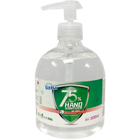 FDA & CE Approved 75% Alcohol Hand Sanitizer -  500ML (16.91 Ounce) - PPE