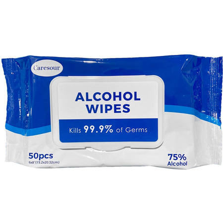75% Alcohol Resealable Disinfecting Wipes - 50 Pack - PPE