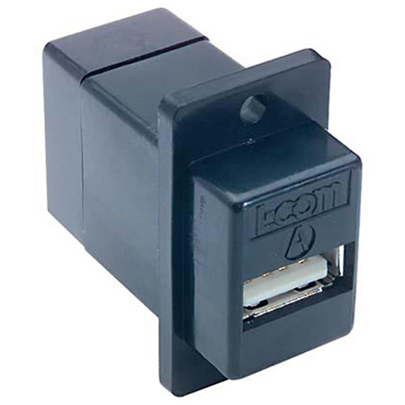 Connectronics Chassis Mnt USB A-B Coupler Black